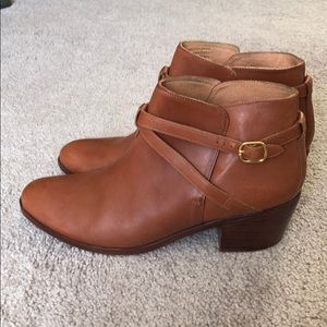 Madewell et Sézane brown leather booties size 11